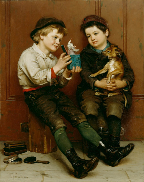Art Prints of A Surprise Party by John George Brown