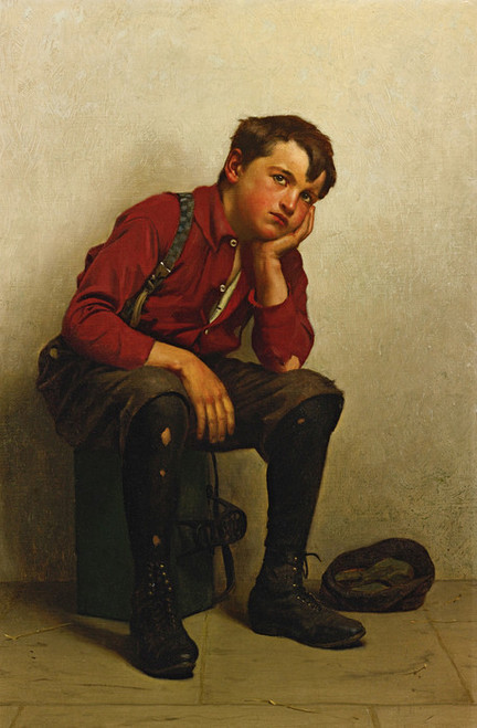 Art Prints of A Lull in Business by John George Brown