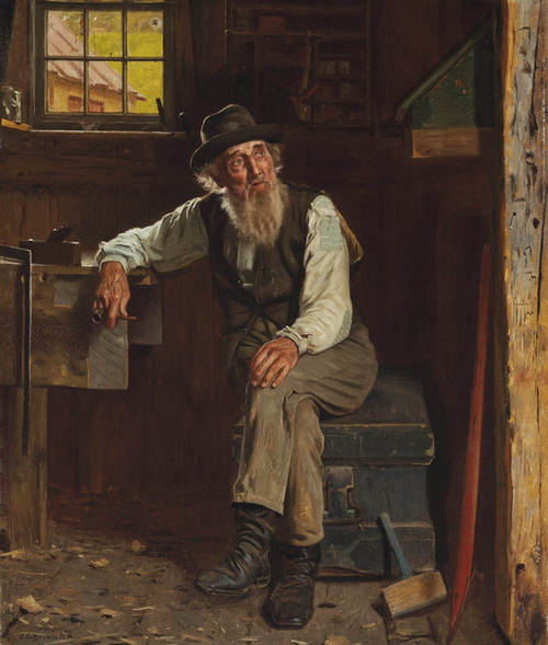 Art Prints of Living in the Past by John George Brown