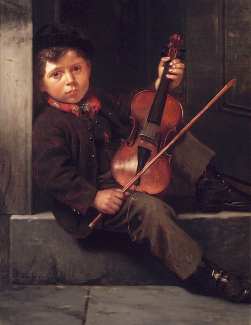 Art Prints of The Boy Violinist by John George Brown