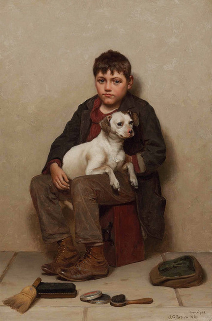 Art Prints of True Friends by John George Brown