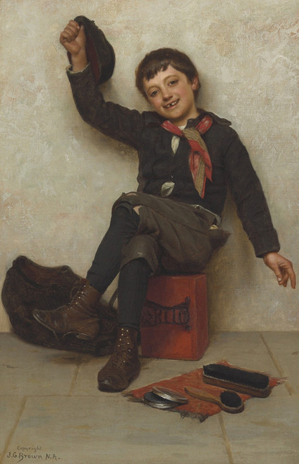 Art Prints of All Right by John George Brown