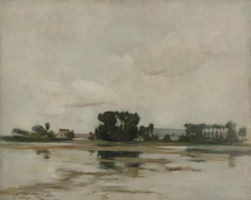 Art Prints of L'etang or the Pond by John Henry Twachtman
