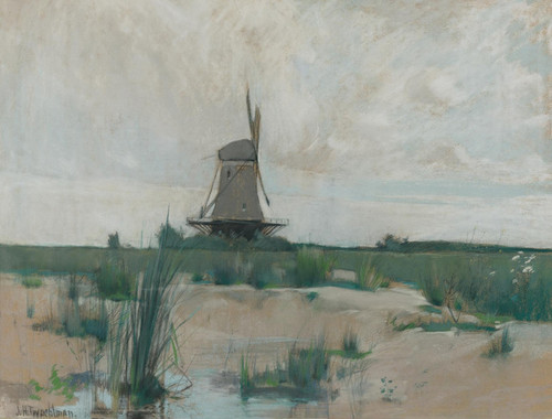 Art Prints of The Windmill by John Henry Twachtman