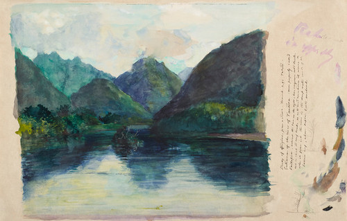 Art Prints of Study of Afterglow from Nature by John La Farge