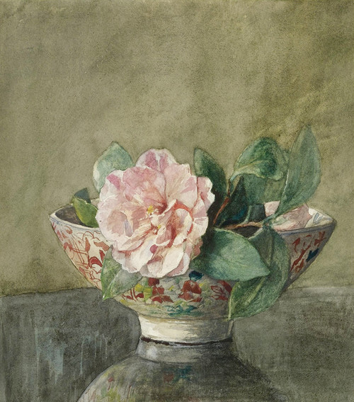 Art Prints of Camellia in an Old Chinese Vase by John La Farge