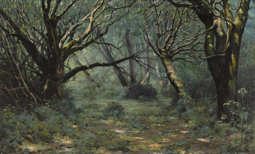 Art Prints of A Sunny Glade by John Marshall Gamble