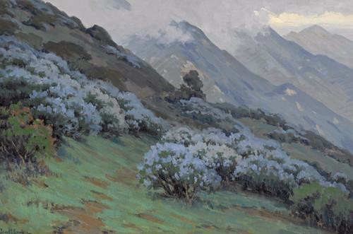 Art Prints of Morning Mists, Wild Lilac by John Marshall Gamble