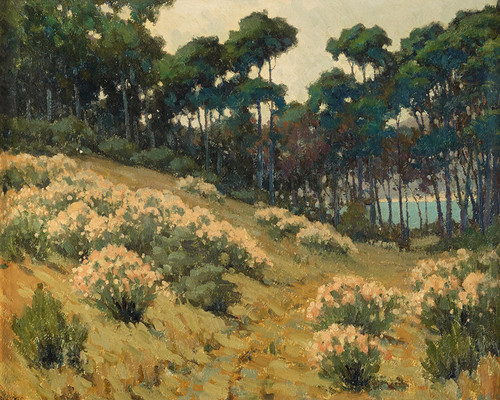 Art Prints of Path through the Wildflowers by John Marshall Gamble