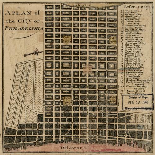 Art Prints of A Plan of the City of Philadelphia, 1777 by John Norman