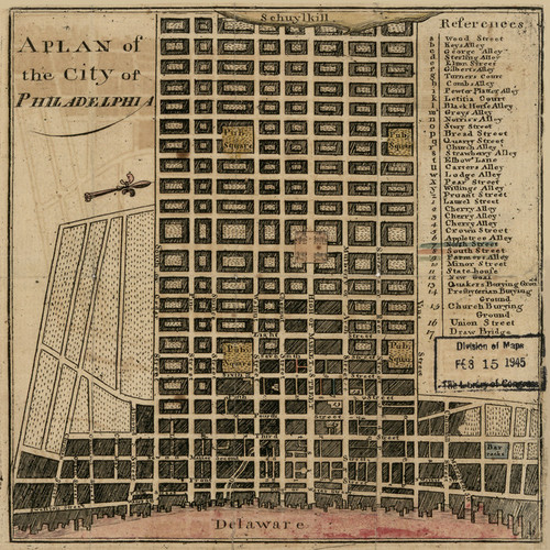 Art Prints of A Plan of the City of Philadelphia, 1777 by John Norman