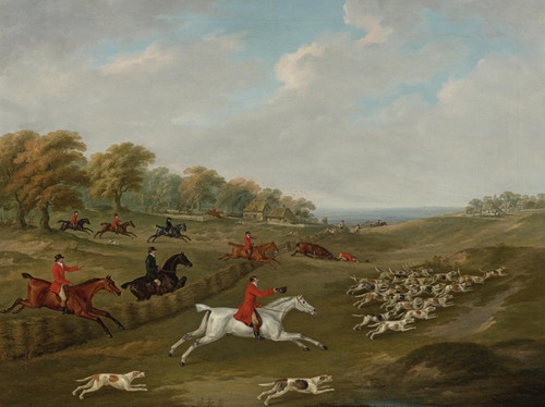 Art Prints of The Duke of Beaufort's Hunt in Full Cry by John Nost Sartorius