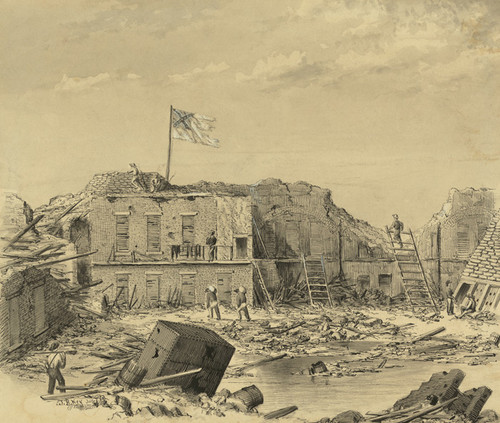 Art Prints of Fort Sumter, View of South East Angle Key (23067L) by John Ross