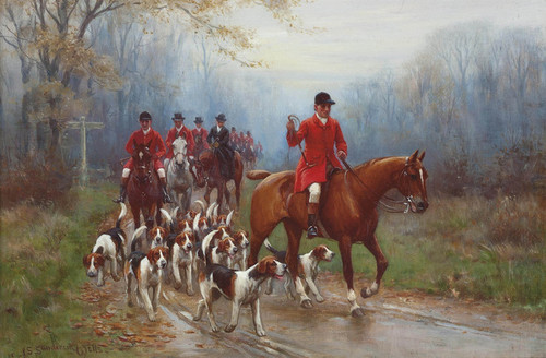 Art Prints of Going to the Meet by John Sanderson Wells