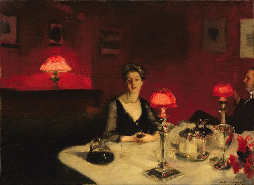 Art Prints of A Dinner Table at Night by John Singer Sargent