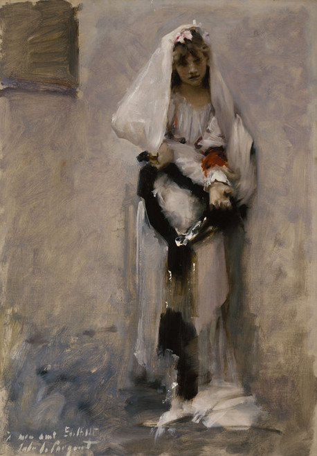 Art Prints of A Parisian Beggar Girl by John Singer Sargent