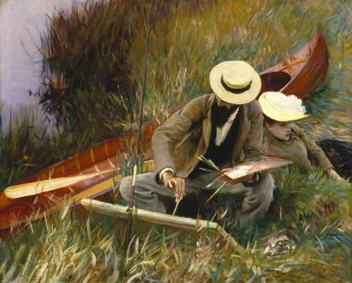 Art Prints of An Out-of-Doors Study by John Singer Sargent