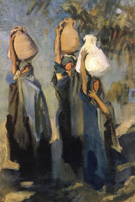Art Prints of Bedouin Women Carrying Water jugs by John Singer Sargent