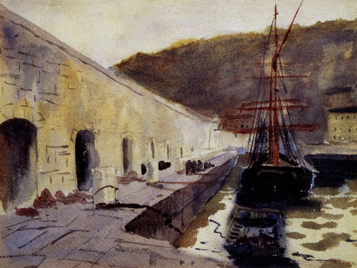 Art Prints of Boats in a Harbor 2 by John Singer Sargent