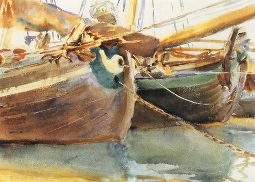 Art Prints of Boats in Venice 1903 by John Singer Sargent