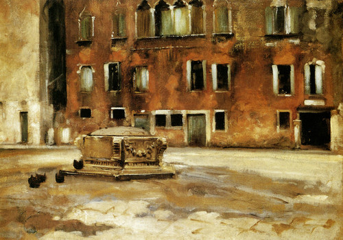 Art Prints of Campo Sant' Agnese, Venice by John Singer Sargent