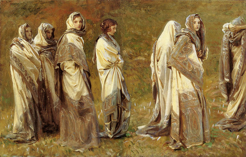 Art Prints of Cashmere, Sargent's Niece in Seven Poses by John Singer Sargent