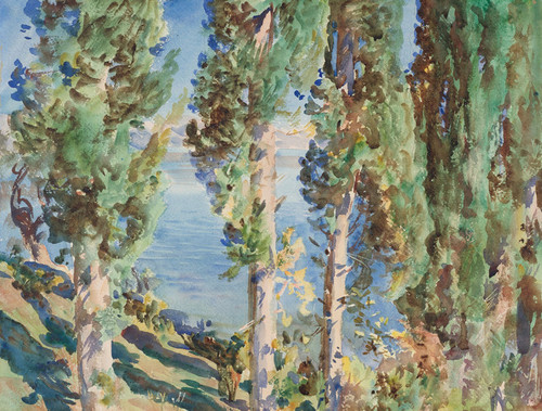 Art Prints of Corfu Cypresses, Greece by John Singer Sargent