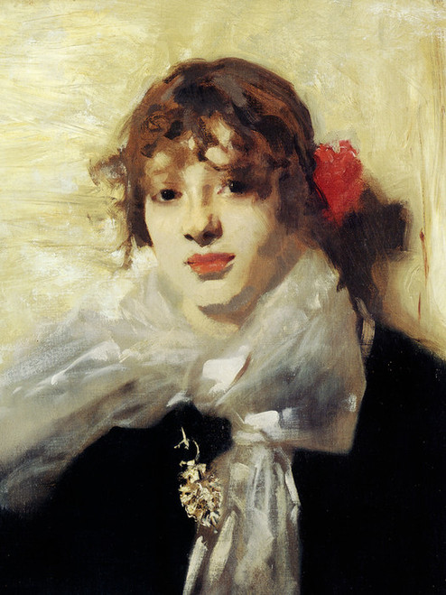 Art Prints of Head of a Young Woman, Detail by John Singer Sargent