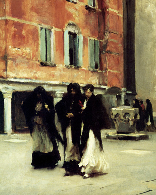 Art Prints of Sortie de L'Eglise Campo, San Canciano, Venice by John Singer Sargent