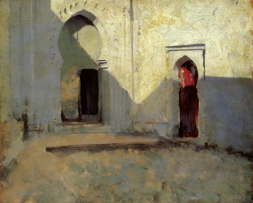 Art Prints of Entrance to a Mosque by John Singer Sargent