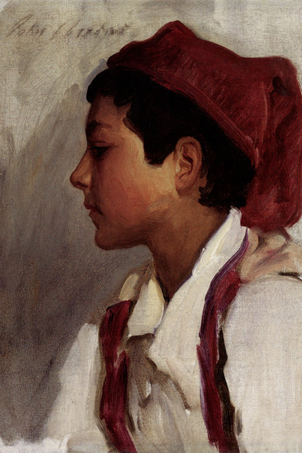 Art Prints of Head of a Neapolitan Boy by John Singer Sargent