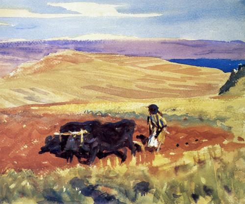 Art Prints of Hills of Galilee by John Singer Sargent