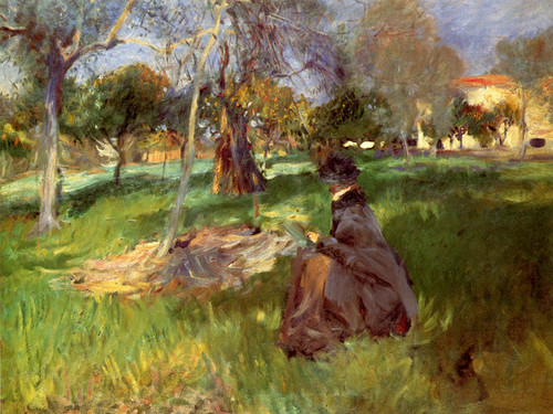 Art Prints of In the Orchard by John Singer Sargent