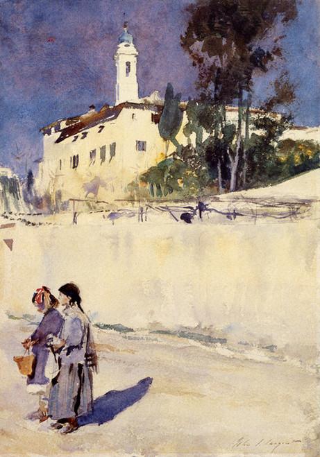 Art Prints of Landscape with Two Children by John Singer Sargent