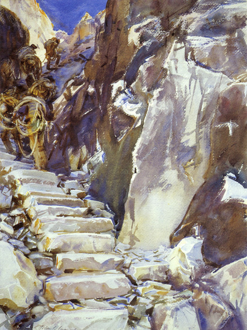 Art Prints of Carrara, Lizzatori I by John Singer Sargent