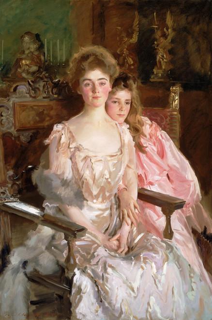 Art Prints of Mrs. Fiske Warren and her Daughter Rachel by John Singer Sargent