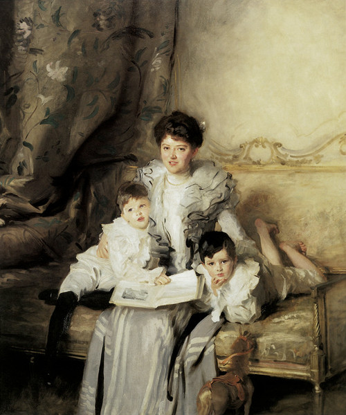 Art Prints of Mrs. Knowles and Her Sons by John Singer Sargent