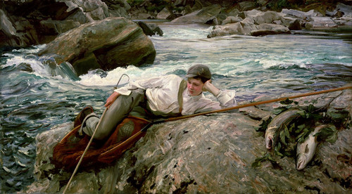 Art Prints of Sargent on His Holidays by John Singer Sargent
