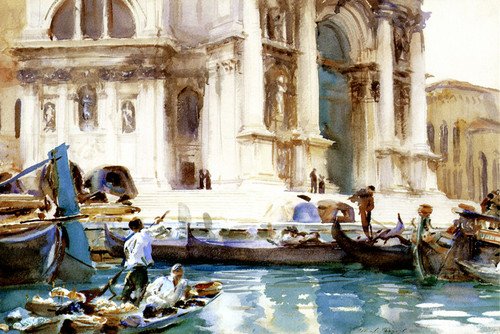 Art Prints of On the Steps of the Salute by John Singer Sargent
