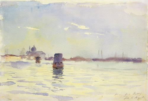 Art Prints of On the Lagoons, Venice by John Singer Sargent