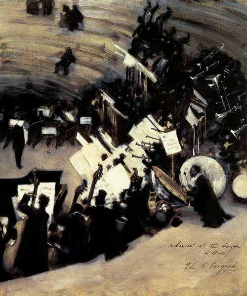 Art Prints of Rehearsal at the Pasdeloup Orchestra II by John Singer Sargent