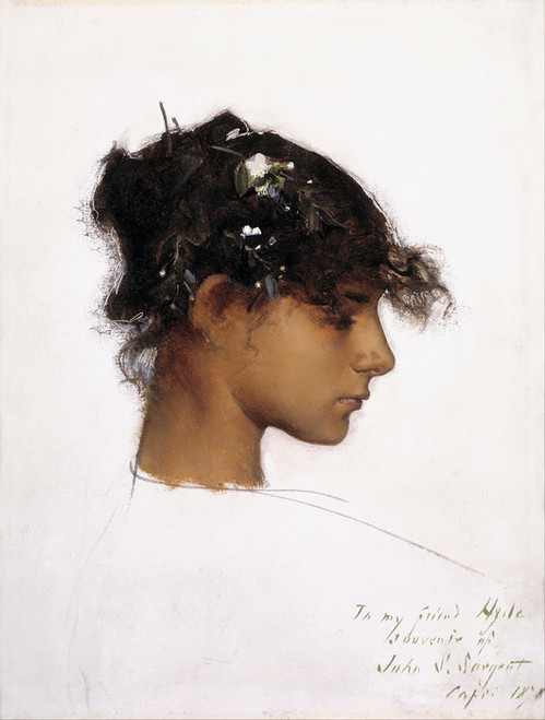 Art Prints of Rosina Ferrara, Head of a Capri Girl by John Singer Sargent