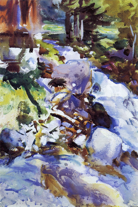 Art Prints of Rushing Brook by John Singer Sargent