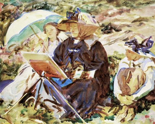 Art Prints of The Lesson, Simplon Pass by John Singer Sargent
