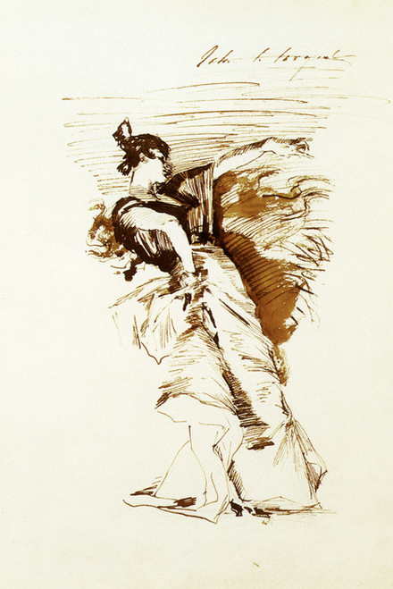 Art Prints of Sketch of a Dancer after El Jaleo by John Singer Sargent