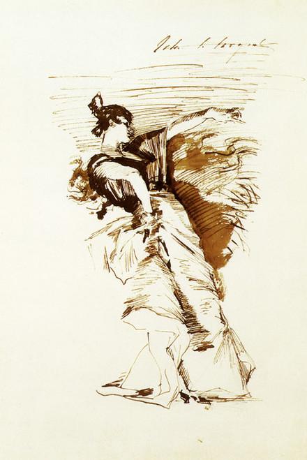 Art Prints of Sketch of a Dancer after El Jaleo by John Singer Sargent
