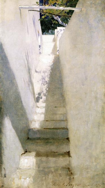 Art Prints of Staircase in Capri by John Singer Sargent