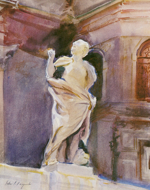 Art Prints of Statue of Saint Mark, Venice by John Singer Sargent