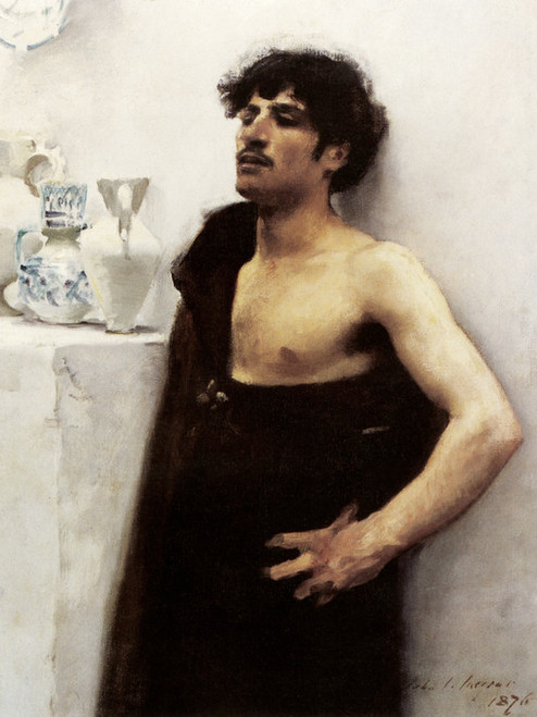 Art Prints of Study of a Male Model by John Singer Sargent