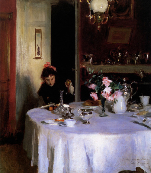 Art Prints of The Breakfast Table by John Singer Sargent